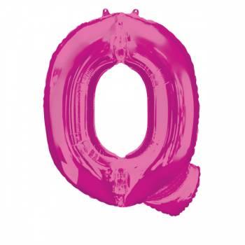Mega Ballon Hélium lettre Q fuschia
