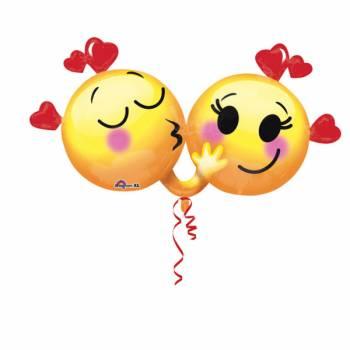 Ballon hélium géant emoticons love