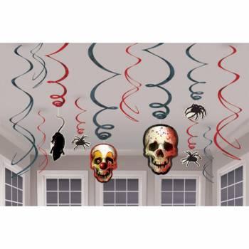 12 suspensions halloween carnaval effrayant