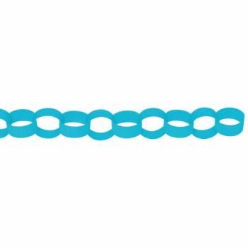 Guirlande chaîne en papier turquoise