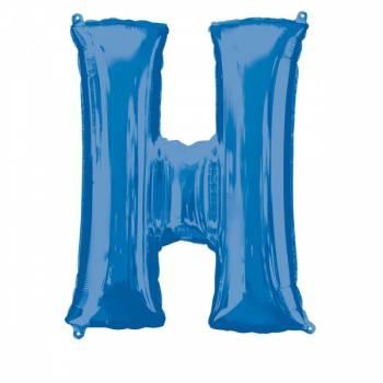 Mega Ballon Hélium lettre H bleu
