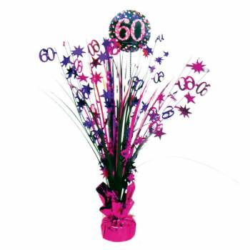 Centre de table pétillant pink 60ans