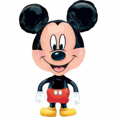 Ballons hélium en aluminium géant appelé Airwalkers en forme de Mickey. Le ballon fait la taille d'un enfant de 2 ans A gonfler a...