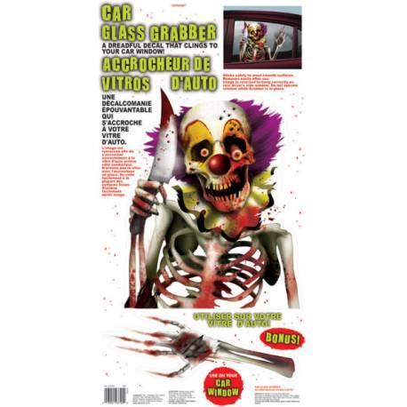 Stickers clown zombie pour vitre auto Décorez les vitres de votre voiture ou de votre intérieur avec ce stickers effrayant ! Dimensions:...