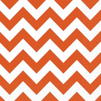 20 Serviettes papier chevrons orange