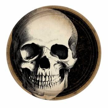 10 Assiettes squelette