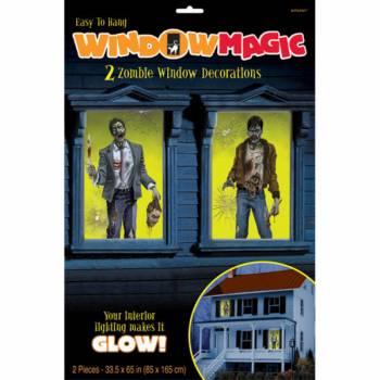 2 Décors de fenêtre Zombie