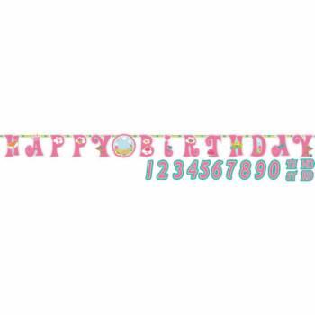 Banderole Happy Birthday Princesse des bois