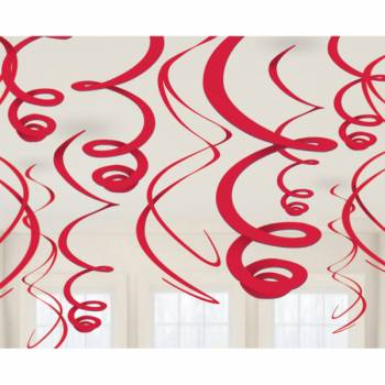 12 Suspensions swirl blanche