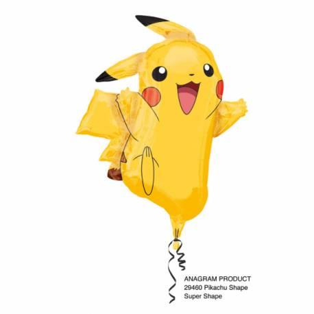Ballon en aluminium pour une décoration d'anniversaire sur le thème PokémonLe ballon est en forme de PikatchuLe ballon peut être...