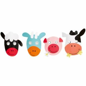 8 Masques animaux de La Ferme