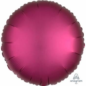 Ballon hélium satin luxe grenade rond