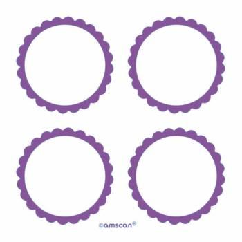 20 étiquettes violettes