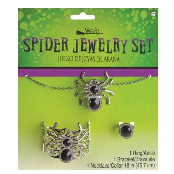 Parure bijoux Reine des araignée