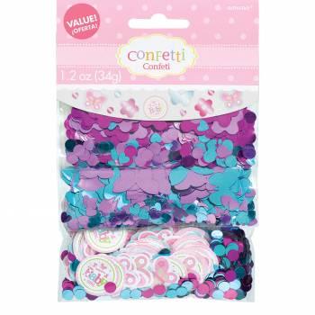 Confettis de table Welcome Baby Girl