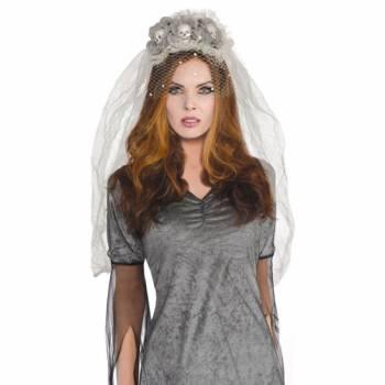 Serre tête voile de mariée fantôme