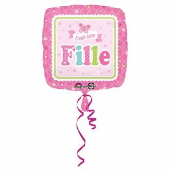 Ballon hélium C'est une fille