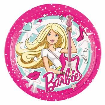 8 Assiettes Barbie Popstar