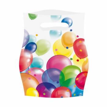 8 sachets de fête Ballons