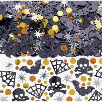 Confettis de table araignée et mort Halloween