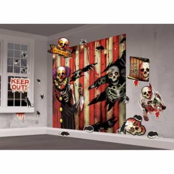 Kit déco murale carnaval effrayant