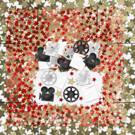 Confettis cinéma pour vos fêtes (anniversaire ...) sur le thème du cinéma Paquet de 14 g