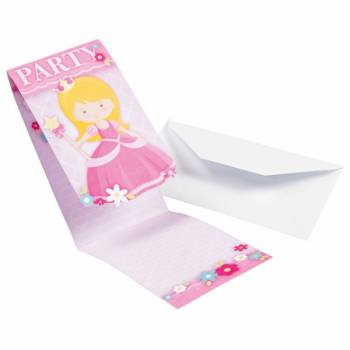 8 Cartes invitations My princesse
