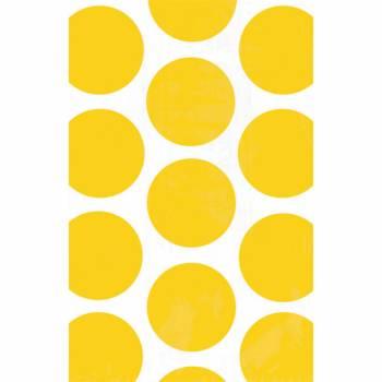 10 sacs en papier pois jaunes