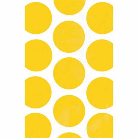 10sacs en papier pois jaunes pour confiseries Dimensions : 18 cm x 10.7 cm