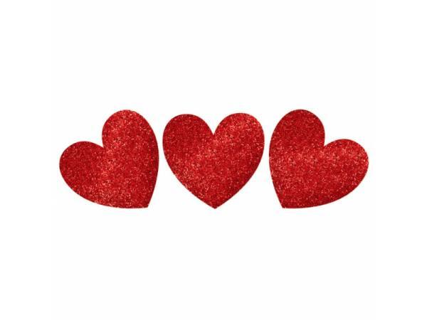 décors pailletés coeur rouge