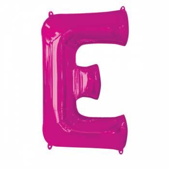 Mega Ballon Hélium lettre E fuschia