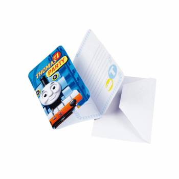 6 Cartes invitations Thomas et ses amis