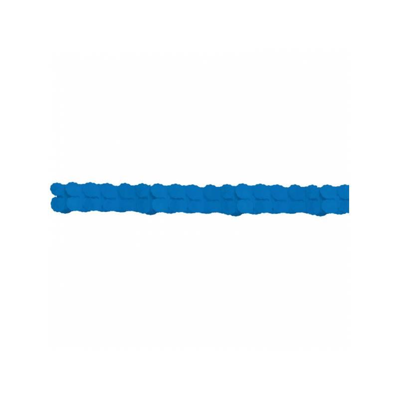guirlandes papier couleur bleu pour deco de salle de f te. Black Bedroom Furniture Sets. Home Design Ideas