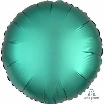 Ballon hélium satin luxe émeraude rond