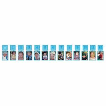 Guirlande cadre photo 1er année bleu