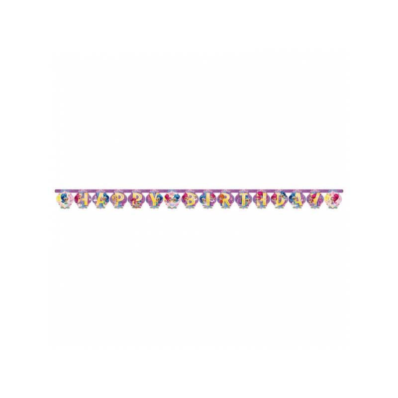 Banderole Happy Birthday Shimmer Et Shine