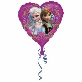 Ballon alu coeur La Reine des Neiges