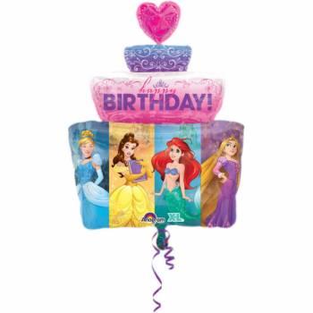 Ballon hélium géant gâteau Princesses Disney