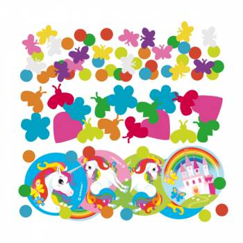 Confettis de table Licorne rainbow