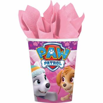 8 Gobelets Paw patrol girly