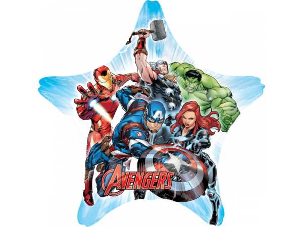 Ballon hélium géant étoile Avengers- deco anniversaire