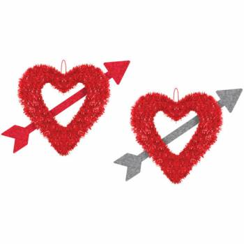 Suspension coeur flêche