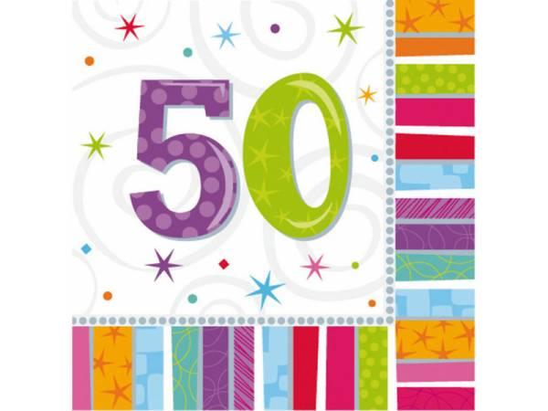 deco anniversaire serviettes 50 ans colorstars. Black Bedroom Furniture Sets. Home Design Ideas