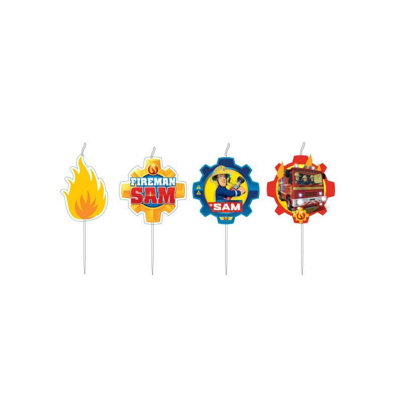 lot 4 bougies m daillons effigie sam le pompier. Black Bedroom Furniture Sets. Home Design Ideas