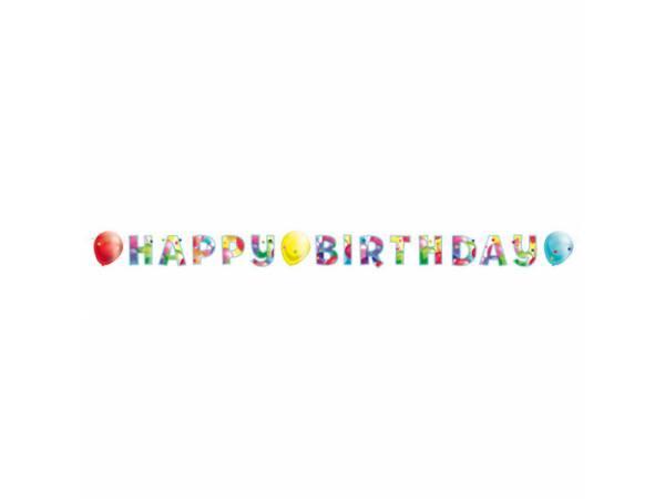 Banderole Happy Birthday Ballons- deco anniversaire