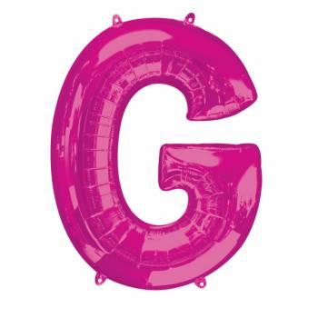 Mega Ballon Hélium lettre G fuschia