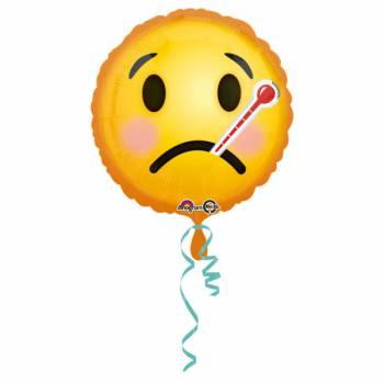 Ballon hélium émoticon malade