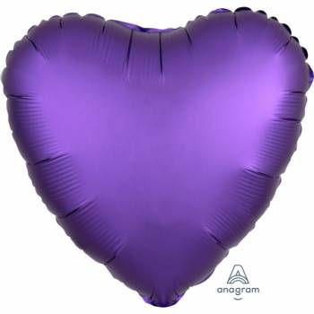 Ballon hélium satin luxe purple coeur