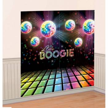 Décor mural piste disco 70's