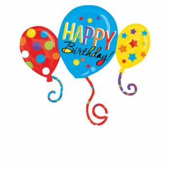 Ballon hélium géant Ballon Happy Birthday